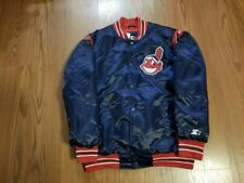 NWT CLEVELAND INDIANS STARTER black label Jacket  size small