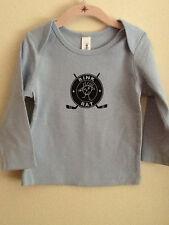 2T Hockey Rink Rat Toddler Long Sleeve Baby Blue Tee/T-shirt,Original, Brand New