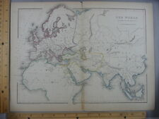 Rare Antique Original VTG World Map As Known To Ancients Illustration Art Print