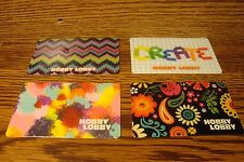 #4 (four) HOBBY LOBBY GIFT CARDs NO VALUE-Never Used or Activated Collectable