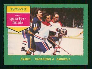 CANADIENS 4 SABRES 2 1973-74 O-PEE-CHEE 1973-74 NO 191 EX+     56487