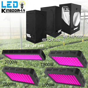 Led Grow Light Kit Indoor Plant Light Hydroponics Grow Tent Kit Grow Room Box
