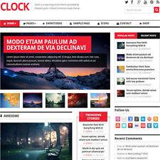 WordPress 'CLOCK' Website eCommerce Magazine Theme For Sale (FREE HOSTING)
