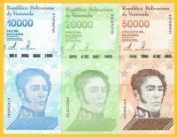Venezuela Set 10000, 20000, 50000 Bolivares p-new 2019 UNC