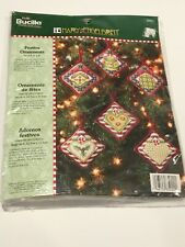 Mary Engelbreit Festive Ornaments Cross Stitch Kit 6 Pc Retired Christmas Hearts