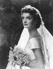 Jacqueline Kennedy Onassis Jackie O WEDDING DRESS PHOTO 8x10 PICTURE