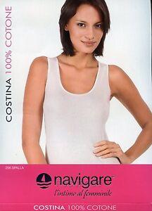 Tank Top Wide Shoulder Woman Cotton NAVIGARE Art. 256