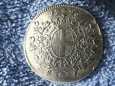 ORDER OF MALTA:  SCARCE SILVER SCUDO: 1796 EXTREMELY FINE!! (EMMANUEL DE ROHAN