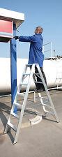 Stehleiter Alu Bockleiter beidseitig 2 x10 ganze Stufen Tritt Industrie