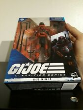 GI Joe Classified 08 Red Ninja w/ box IN HAND +free Articulated Figure Stand