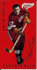 Autographed 1994 Parkhurst Tall Boy Floyd Smith Card #45 Detroit Red Wings
