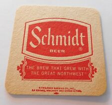 "3 3/8"" Square Beer Coaster Schmidt ~"