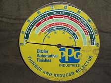 Vintage Filling Station Advertising Thermometer Ditzler Automotive Finishes