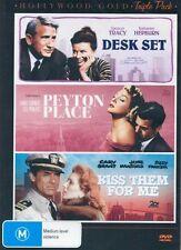 Desk Set / Peyton Place / Kiss Them for Me (3 Discs) NEW