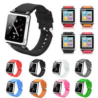Silicone Watch Band Wrist Strap Case Cover For iPod Nano 6 6th Generation US