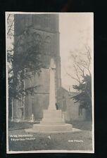 Somerset CHEWTON MENDIP War Memorial RP PPC pub Bert Phillips c1920s?