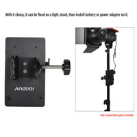Andoer V Mount V-Lock Battery Power Plate Adapter w/D-Tap&Clamp for Sony camera