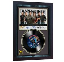 NEW! Iron Maiden The Final Frontier MUSIC  SIGNED FRAMED PHOTO LP Vinyl