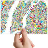 "New York City Street Map - Small Photograph 6"" x 4"" Art Print Photo Gift #13260"