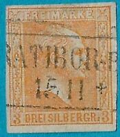 + 1858 Prussia Germany King William 4th #13 A2 3sg Imperf.Margins Ratibor RPO