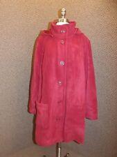 Dark Red NEW Cozy No Pill Fleece Detach Hood Jacket Coat Womens 20W Super Comfy