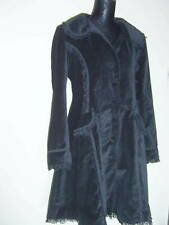 SPIN DOCTOR LADIES GOTH VICTORIAN STEAMPUNK WHITBY BLACK VELVET COAT SZ  L 12/14