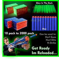 1-2000 Pcs NERF Gun Refill Soft Darts Bullets Toy Gun N -Strike Round Head Blast