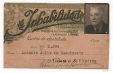 PORTUGAL CARTÃO MEMBRO ASSOCIAÇÃO SOCORROS MUTUOS 1947 ID CARD