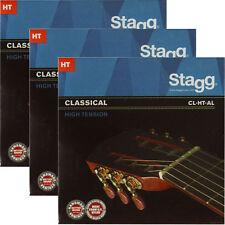 3x Gitarrensaiten Konzert-/Klassik-Gitarre Nylon Saiten High Tension Seiten HT