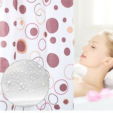 59''x59''10 Hooks PEVA Durable Waterproof Door Curtain Bathroom Shower Curtain