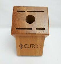 New listing Cutco Wooden 5 Slots Knives Holder Storage Block