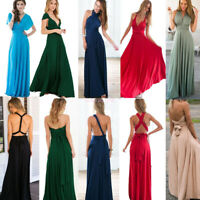 Women Evening Dress Convertible Multiway Wrap Bridesmaid Formal Long Dresses I/
