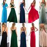 Women Evening Dress Convertible Multiway Wrap Bridesmaid Formal Long Dresses I/