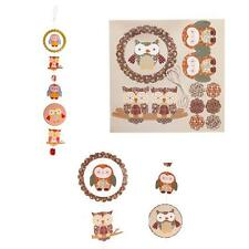 Owl Garland Decoration Paper Craft Kit Pop Out Mobile Hanging Decoration New