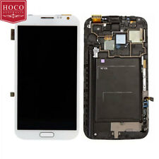 WHITE LCD Touch Screen Digitizer Assembly + Frame Samsung Galaxy Note 2 N7100
