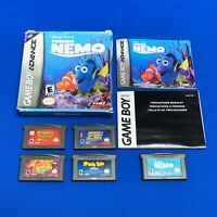 Lot of 5 Game Boy Gameboy Advance GBA Finding Nemo Dragon Ball GT Froggers Games