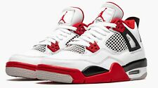Nike Air Jordan 4 Retro (Gs) Fire Red/White/Black 2020: Youth 5Y 408452 160