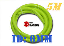 """6mm 1/4"""" Silicone Vacuum Tube Hose Silicon Tubing 15.5ft 5M 5 Meters Lime"""