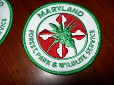Maryland Forest Park & Wildlife Service - One Fabric Patch - NEW OLD STOCK