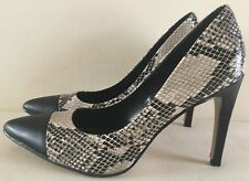 Womens Size 9 Two Tone Colour Black & Animal Print High Heel Shoes