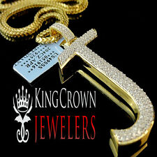 Real 14k Yellow Gold On Silver Micro Pave Simu Diamond Initials Letter J Pendant