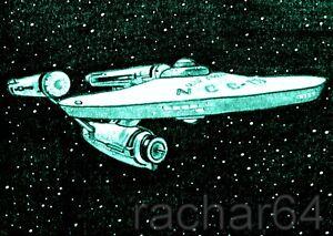 1/1 print ACEO sketch card STAR TREK Starship USS ENTERPRISE NCC-1701