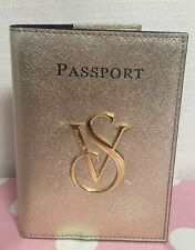 NEW VICTORIA'S SECRET GOLD PASSPORT and Boarding Pass Holder