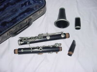 VINTAGE  THIBOUVILLE FRERES WOOD CLARINET M MASSON PARIS FRANCE HARMONIE