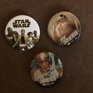 Star Wars Marvel Comics Promo Badges