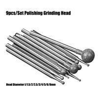 Spherical Burr Jade Carve Tool Grindings Bit Diamond Grind Needle Head Cutter