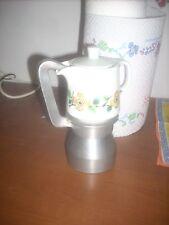 caffettiera  con parte in metallo e parte in  ceramica 3-4 tazze