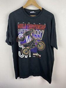 Vintage 1997 Geneva Supercross World Championship 90s Mens T Shirt Size XL Rare