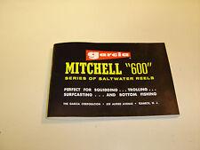 Garcia Mitchell 600 Series of Saltwater Reels Manual