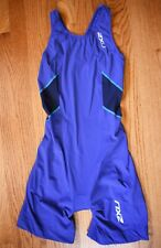2XU Blue Sprint Skin Suit Tri Triathlon Womens S Padded Cycling Shorts